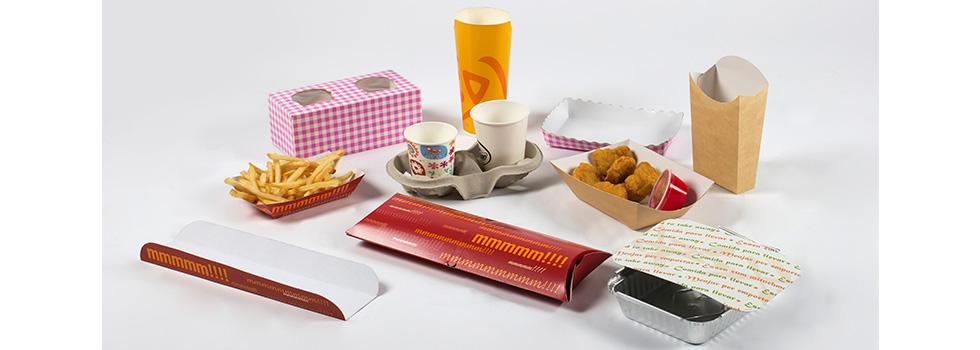 Envases desechables para comida rápida