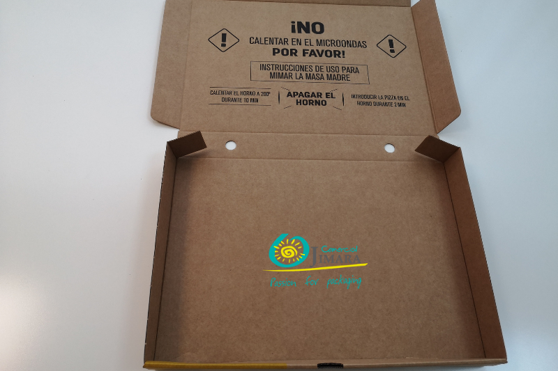 instrucciones envases pizza Jimara packaging
