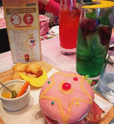hamburguesa rosa japon