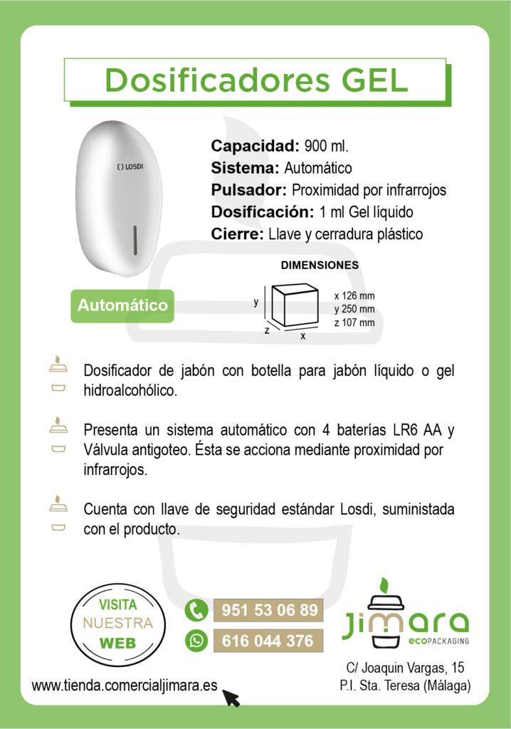 Dosificador gel automático Coronavirus Jimara Packaging