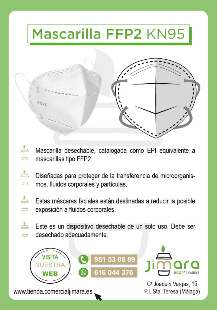 mascarillas FFP2 KN95 Coronavirus Jimara Packaging