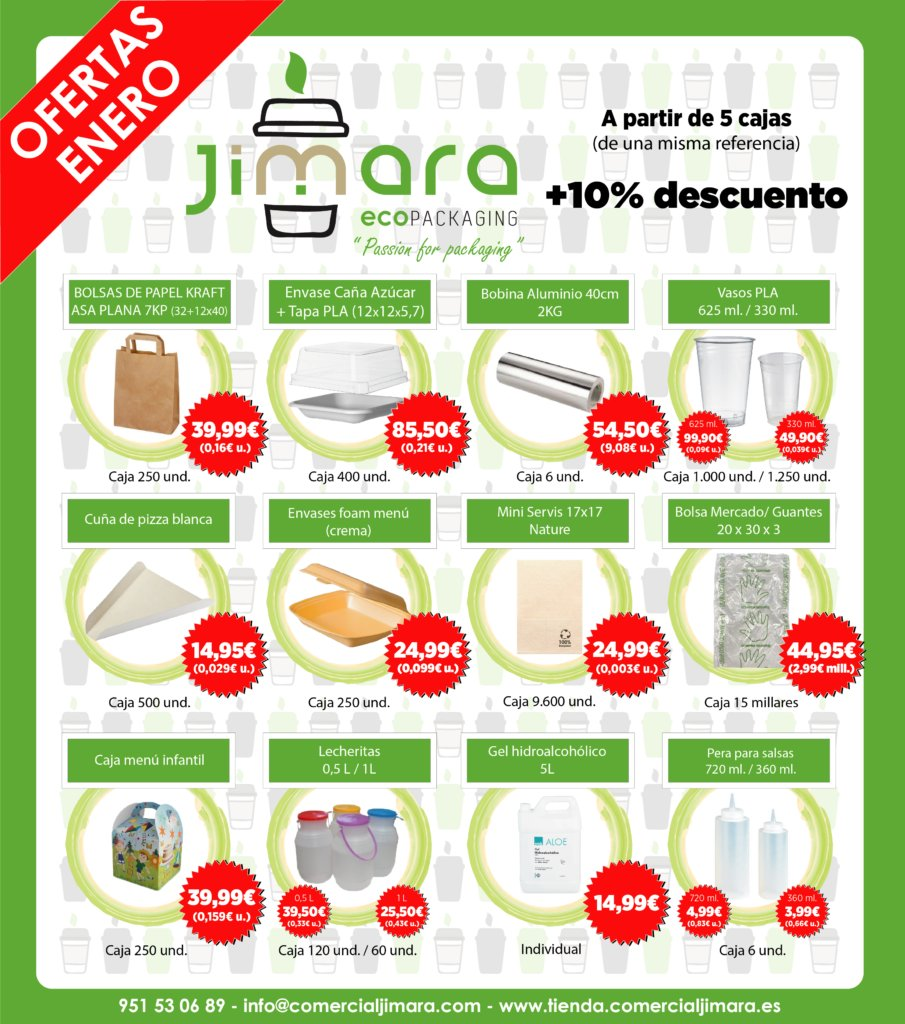 ofertas jimara packaging envases