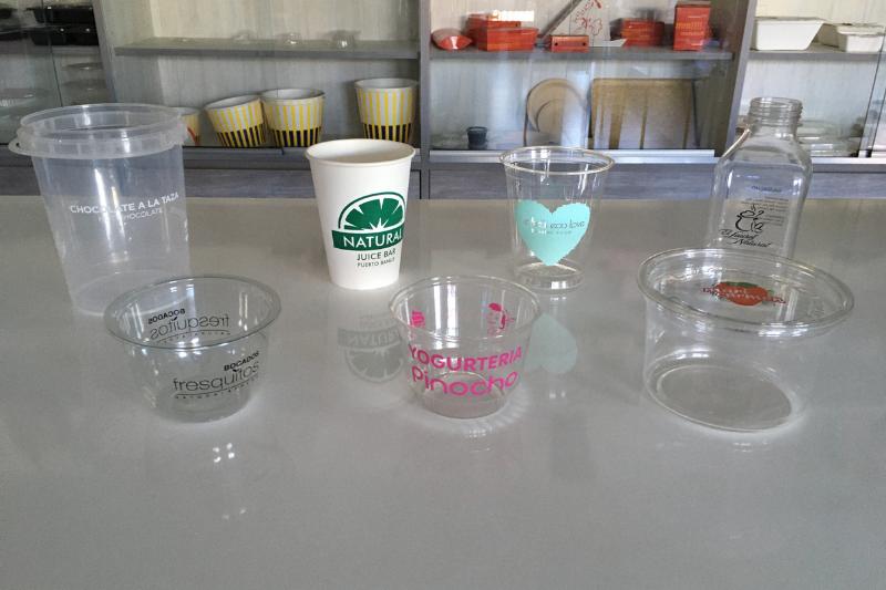 impresion en botellas vasos y tarrinas jimara packaging