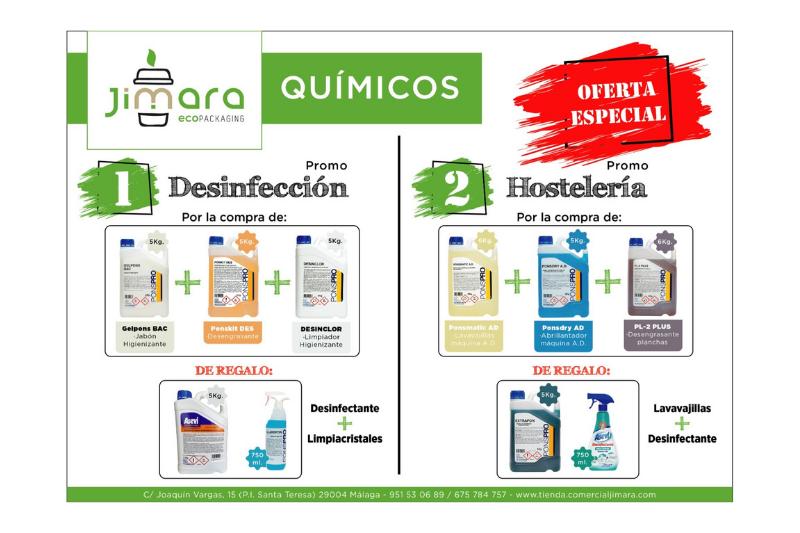 ofertas quimicos restaurantes jimara packaging