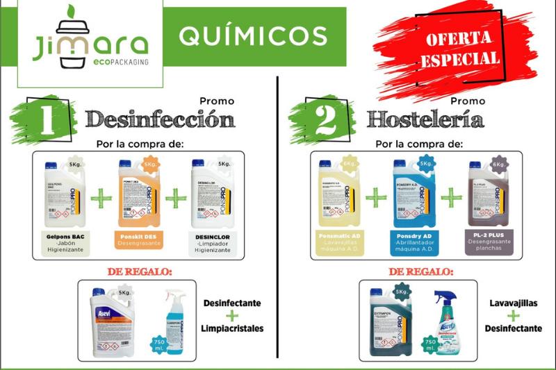 promocion desinfectantes y hosteleria jimara packaging